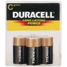 Image 2 of DURACELL MN1400R4ZX Alkaline Battery, C Battery, Manganese Dioxide, 1.5 V Battery