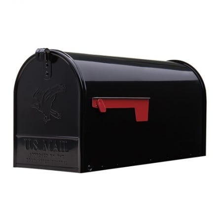 Gibraltar Large Post Mount Steel Mailbox