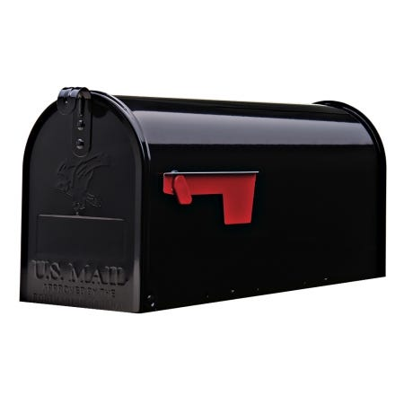 Gibraltar Standard Post Mount Steel Mailbox