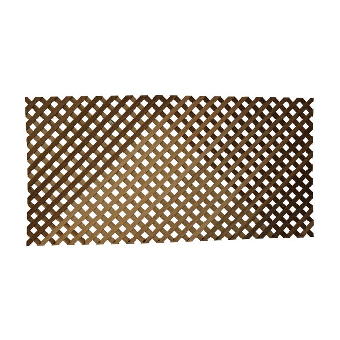 Woodway Pressure Treated Diagonal Lattice Panel, Clear Grade, Standard, 4' x 8'