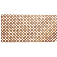Woodway Cedar Diagonal Lattice Panel, Clear Grade, 4' x 8'