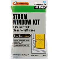 Image 1 of Frost King P714H Window Insulation Kit, Polyethylene, Clear, Pack