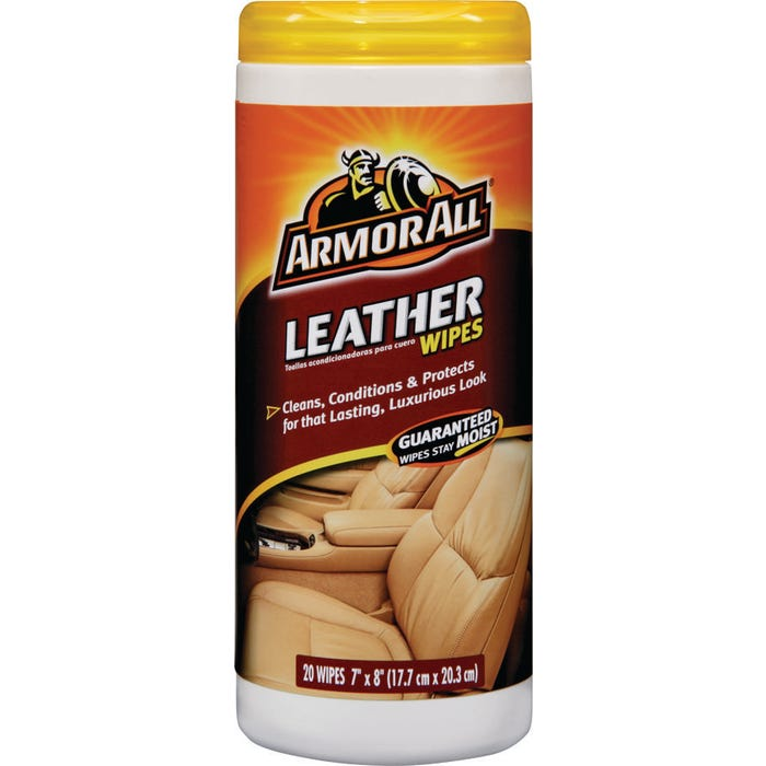 Image 2 of Armor All 10881-4 Leather Wipes, Opaque White, 20