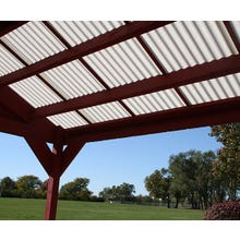 Image 2 of Sequentia Corrugated Fiberglass Roof Panels - White 12'