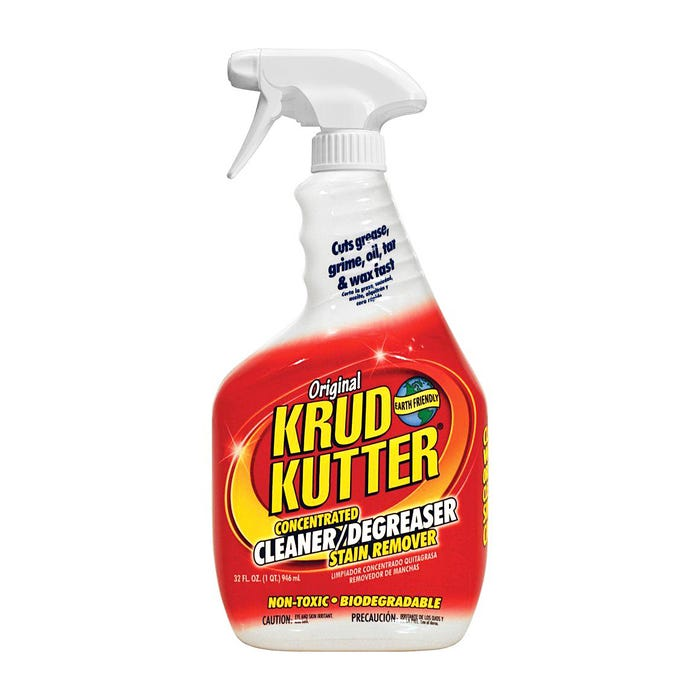 KRUD KUTTER Original, Concentrated Cleaner/Degreaser Stain Remover, Spray, 32 oz.