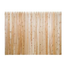 Cedar Stockade Fence, 6' x 8' Section