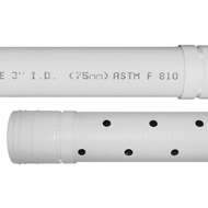 Image 1 of 6 in. x 10 ft. White HDPE Sewer & Drain Pipe, Solid