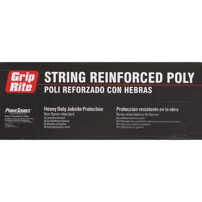 6-Mil Reinforced Ploy Sheeting Clear