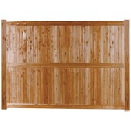 T&G V-Joint Cedar Board Fence, Section, 5 ft. x 8 ft.