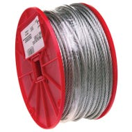 Image 1 of Campbell 7000427 Aircraft Cable, 340 lb Working Load Limit, 500 ft L, 1/8 in Dia, Galvanized Steel
