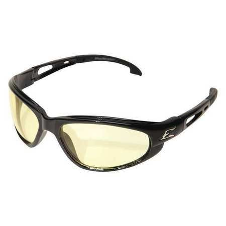 Edge Eyewear Black DAKURA Frame Yellow Lens