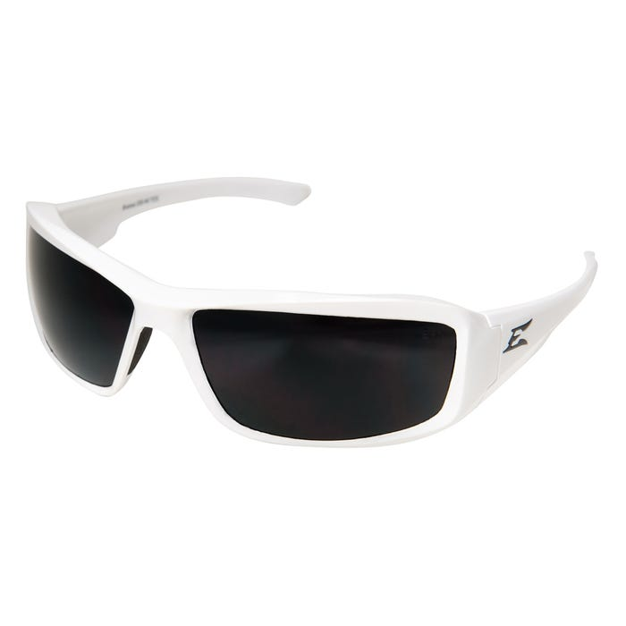 Edge Eyewear White Frame Smoke Polarized Lens