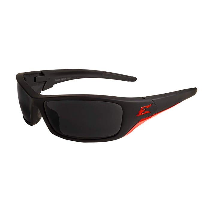Edge Eyewear Matte Black Frame Red-Smoke Lens