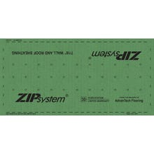 Huber ⁷⁄₁₆ in. T&T ZIP System Roof and Wall Sheathing, 4 ft. x 8 ft. (GREEN)