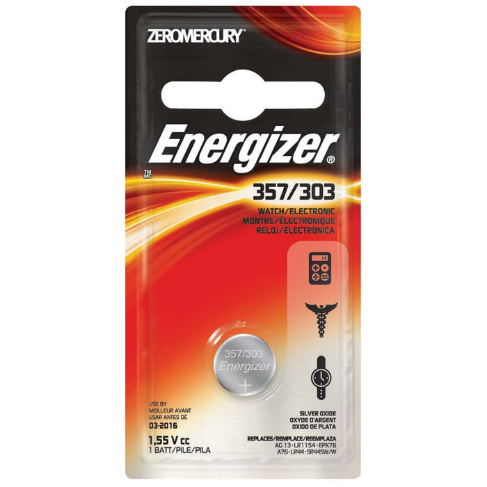 Image 2 of Energizer 357BPZ Coin Cell Battery, 357 Battery, Silver Oxide, 1.5 V Battery