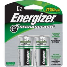Image 2 of Energizer NH35BP-2 Rechargeable Battery, C Battery, Nickel-Metal Hydride, 1.2 V Battery