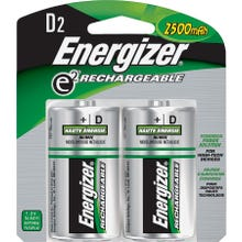 Image 2 of Energizer NH50BP-2 Rechargeable Battery, D Battery, Nickel-Metal Hydride, 1.2 V Battery