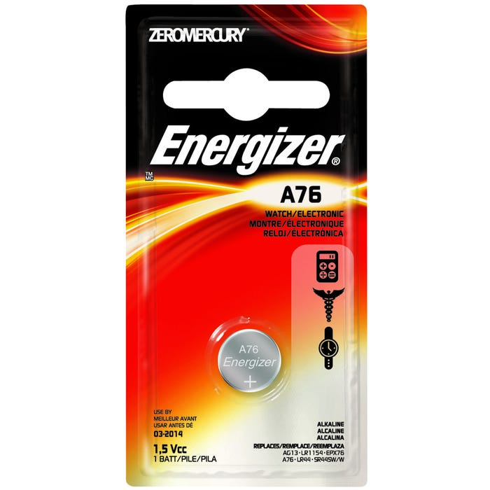 Image 2 of Energizer A76BPZ Alkaline Battery, A76 Battery, Manganese Dioxide, 1.5 V Battery