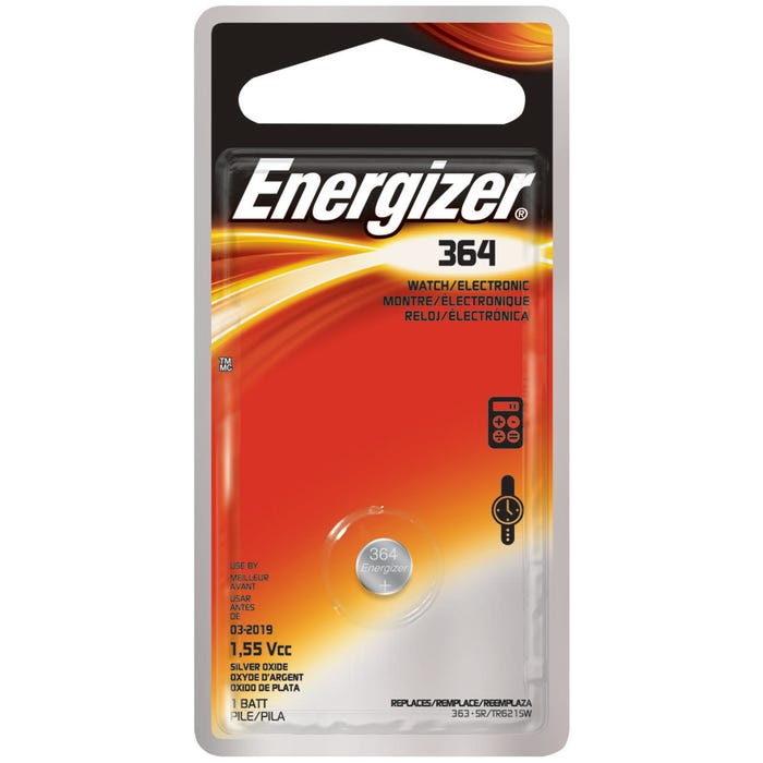 Image 2 of Energizer 364BPZ Button Cell Battery, 364 Battery, Silver Oxide, 1.5 V Battery