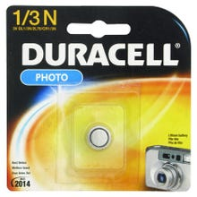 Image 2 of DURACELL DL1/3NBBPK Lithium Battery, Manganese Dioxide, 1/3N Battery