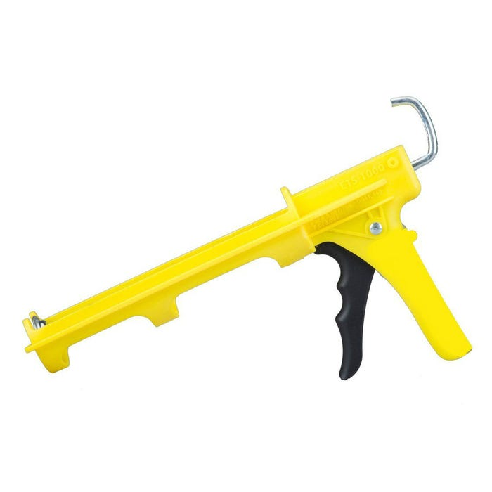 10OZ YELLOW CONTRACTOR COMPACT GRIP LIGHT WEIGHT ERGONOMIC CAULK GUN