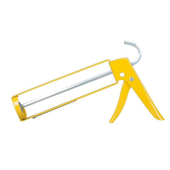 10OZ YELLOW CNTR PROF HEX-ROD CAULK GUN, CUTTER, POKER, LADDER HOOK