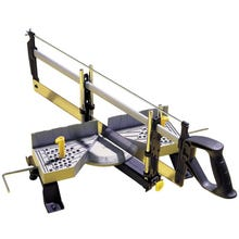 Image 1 of STANLEY 20-800 Clamping Mitre Box with Saw, 22 in W Cutting, 1-1/2 in D Cutting, 45, 90 deg Cutting Slot, Aluminum