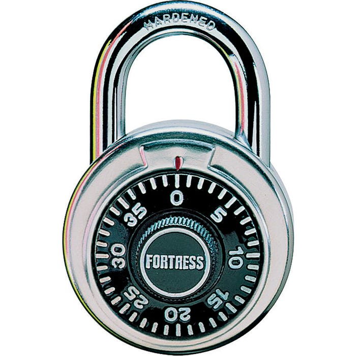 Image 2 of Master Lock 1850D Combination Padlock, 1-7/8 in W Body, 3/4 in H Shackle, Stainless Steel