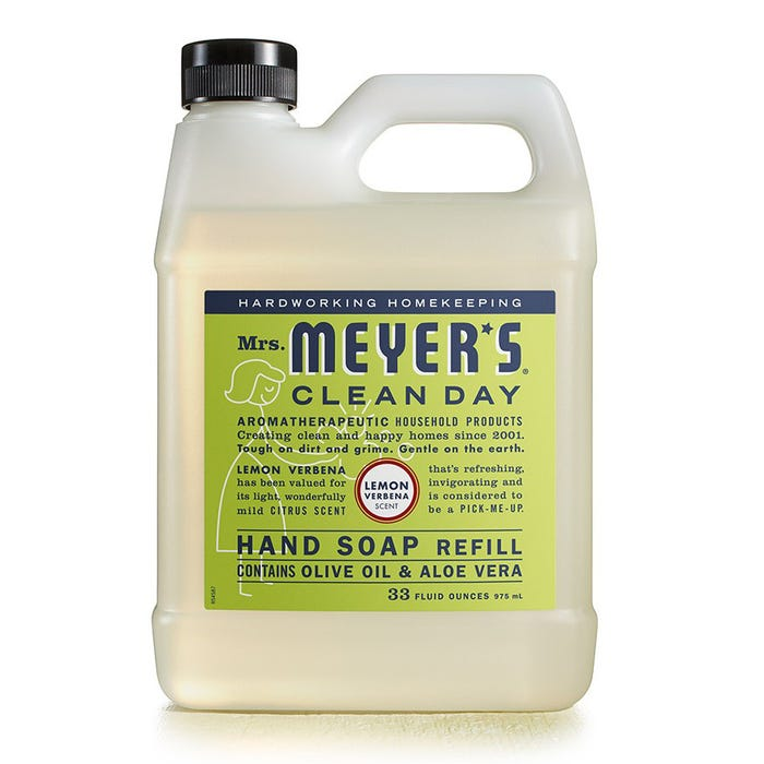 MRS. MEYERS 33OZ LIQUID SOAP REFILL - LEMON VERBENA
