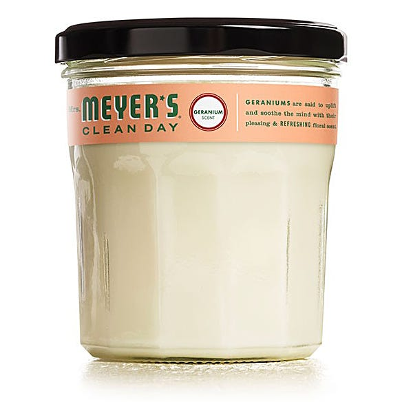 MRS. MEYERS 7.2OZ SOY CANDLE - GERANIUM