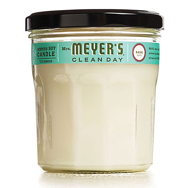 Mrs. Meyers 7.2 oz Soy Candle - Basil