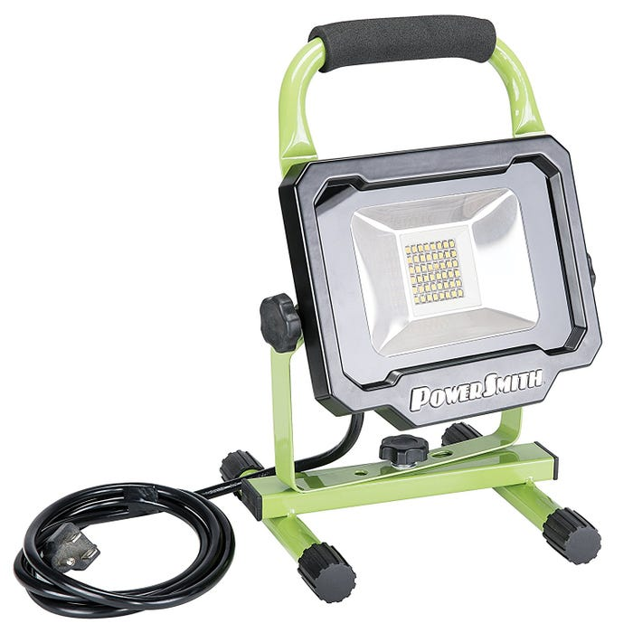 PowerSmith PWL1124BS 2500 Lumen LED Portable Work Light with Metal Stand and Lamp Housing, 2,500 Lumens