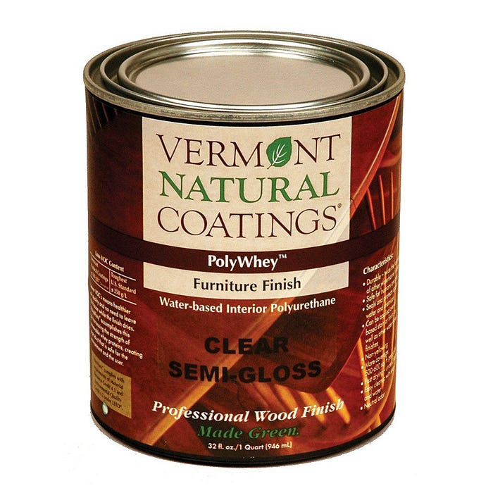 Vermont Natural Coatings POLYWHEY FURNITURE FINISH SEMI-GLOSS QT