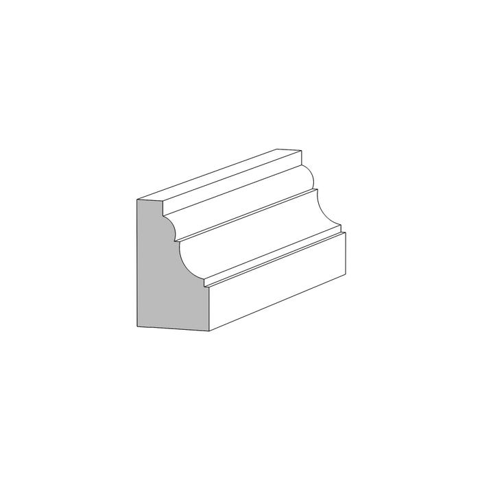 (M91) ⅝ in. x 1 in. x 16 ft. Panel/Shoe, Primed Finger-Jointed Pine
