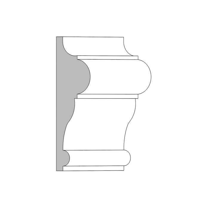 (M106) 1¹⁄₁₆ in. x 3½ in. x 16 ft. Chair Rail, Primed Finger-Jointed Pine