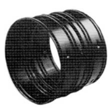 Image 2 of 4 in. Black HDPE Connector