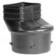 Image 2 of 4 in. Black HDPE Downspout Adapter