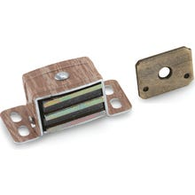 Image 2 of Amerock BP9798AW Magnetic Catch, 2-1/16 in L x 1 in W Catches, Aluminum, Woodgrain
