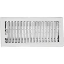 Image 2 of Imperial RG0247 Floor Register, 10 in W x 4 in H Duct Opening, Steel, White