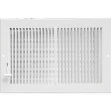Image 2 of Imperial RG0289 Multi-Shutter Register, 10 in W x 4 in H Duct Opening, Steel, White