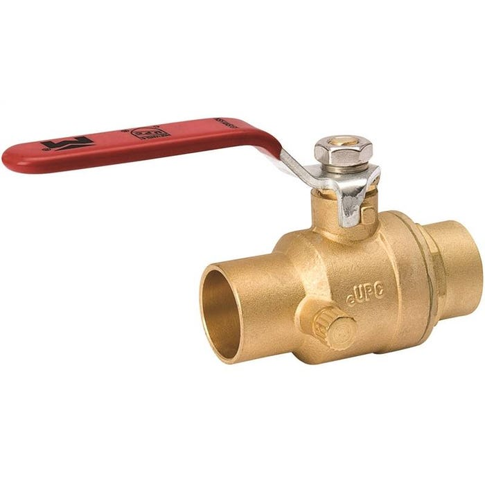 Image 1 of Southland 107-553NL Ball Valve, 1/2 in Compression, Brass, Chrome