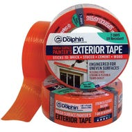 Image 1 of Blue Dolphin Rough Surface Orange Exterior Tape, 1-½ in x 55 yd.