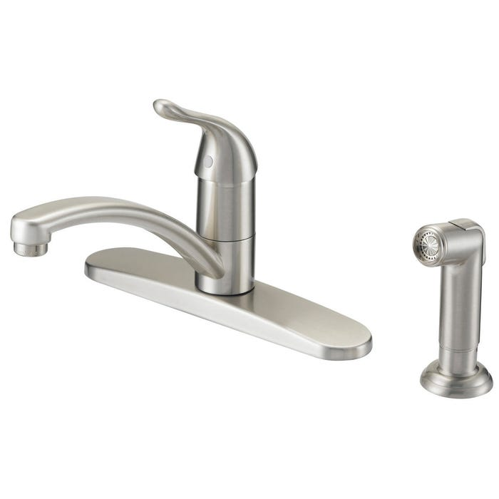 Image 2 of Boston Harbor Kitchen Faucet, 1.75 Gpm At 60 Psi, 8 In Center Distance, 1 Durable Metal Lever Handle