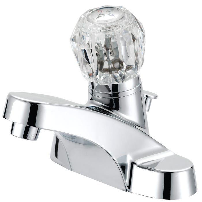 Image 2 of Boston Harbor Lavatory Faucet With Plastic Pop-Up, 4 In Center, Round Handle