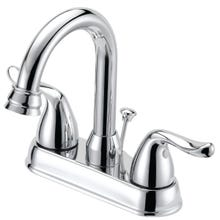 Image 2 of Boston Harbor Lavatory Faucet With Plastic Pop-Up, 4 In Center, Lever Handle