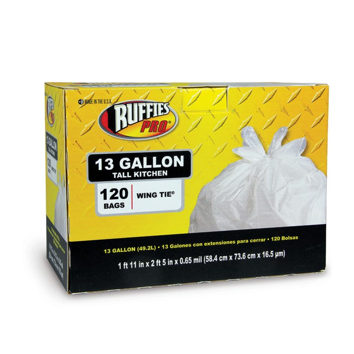 RUFFIES PRO 13GAL TALL KITCHEN BAG .65MIL 120/CT