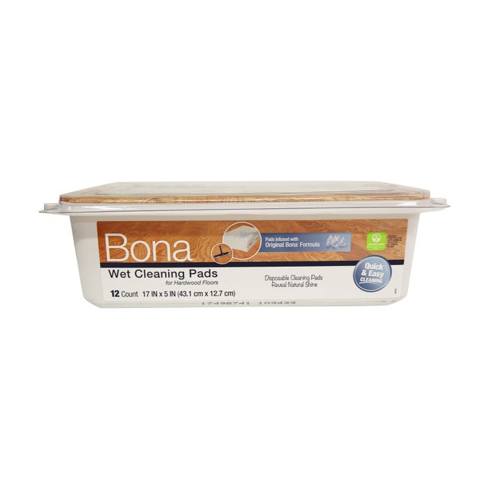 Bona Hardwood Floor Wet Cleaning Pads, 12-Pack