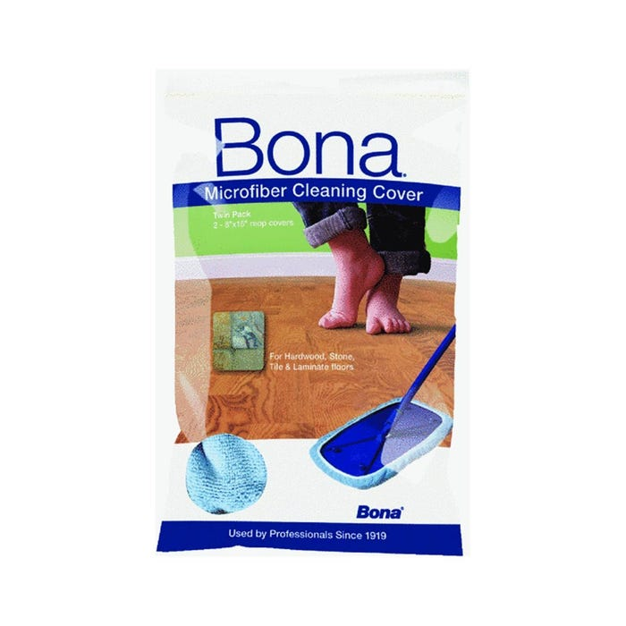 Bona Microfiber Cleaning Cover, 8 in. x 15 in., 2-Pack