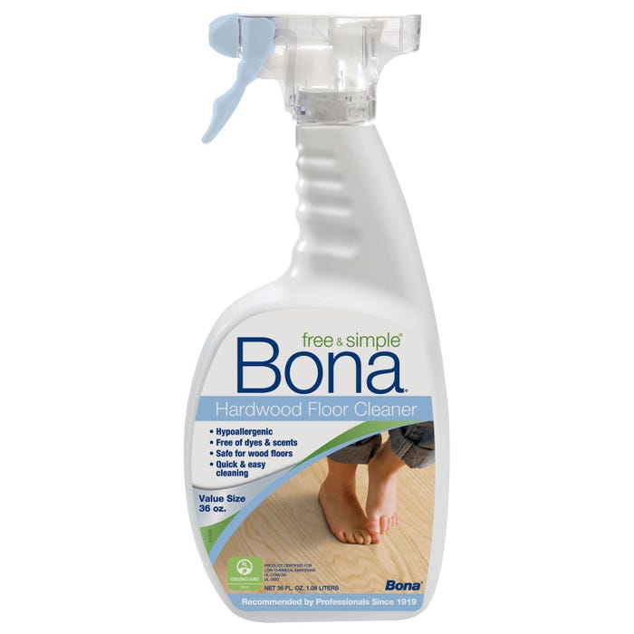 BONA FREE & SIMPLE HARDWOOD FLOOR CLEANRER SPRAY, 36 FL OZ