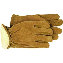 Image 1 of Boss 4176L Gunn Cut Driver Gloves, L, Polyester Lining, Split Cowhide Leather, Brown